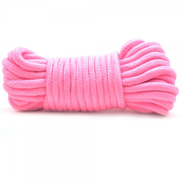 10 Metres Cotton Bondage Rope Pink
